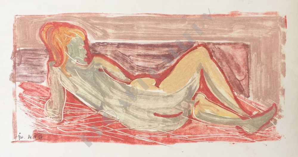 Ležiaca žena