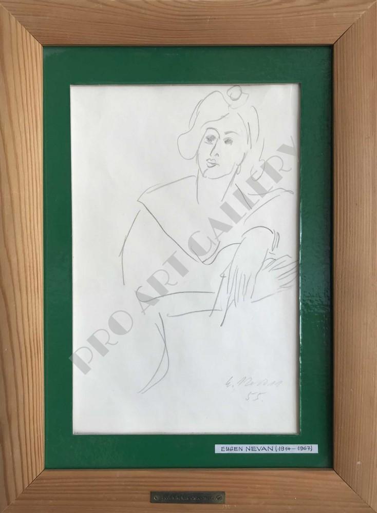 Portrét ženy s preloženými rukami