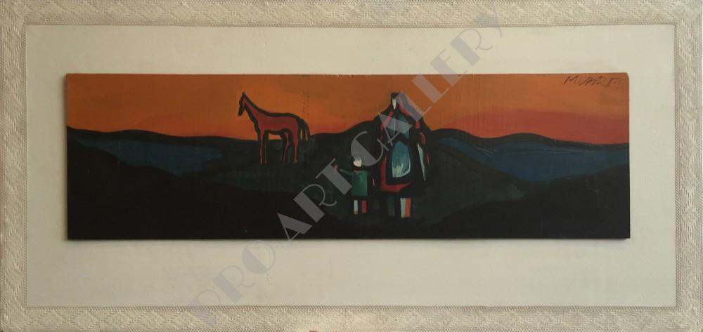 Matka, dieťa a kôň