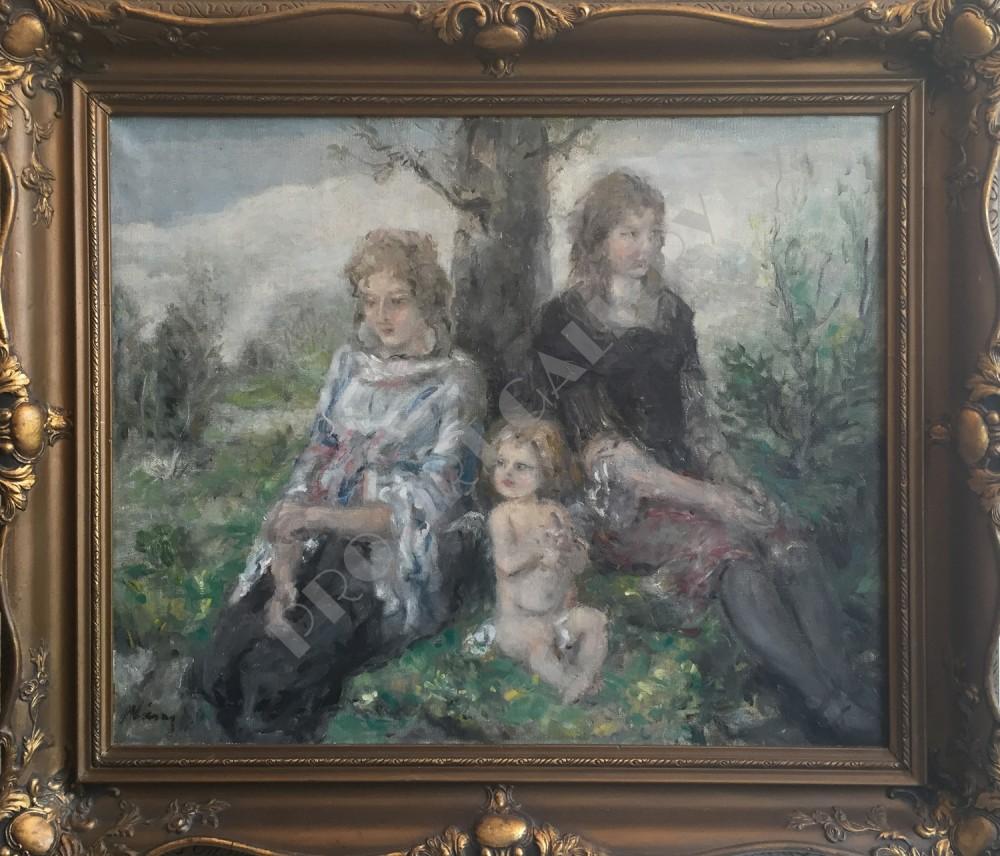 Matka s deťmi v sade