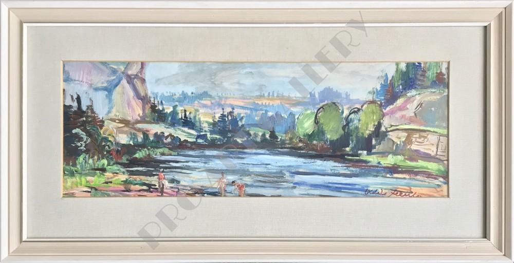 Ráno pod Oravskou přehradou