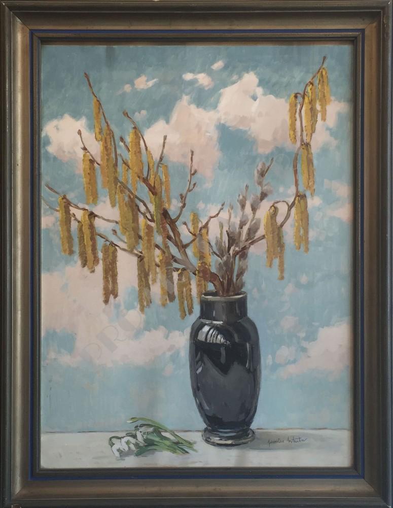 Váza s lieskami
