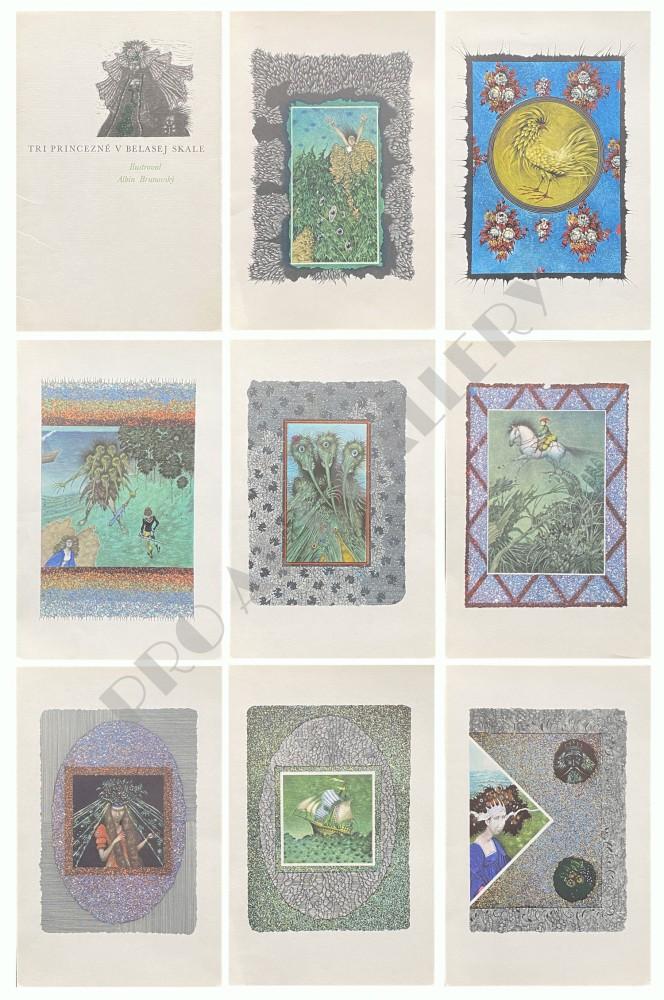 Súbor ilustrácií ku knižke Tri princezné v belasej